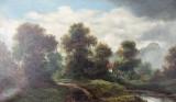 Målning, landskap, tidigt 1900-tal