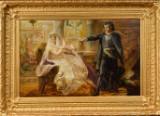 Ubekendt Kunstner, olie på lærred, historisk sceneri