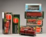 Märklin. Samling 'Spor1', 1:32 skalamodeller. Et lokomotiv samt 5 vogne. (6)