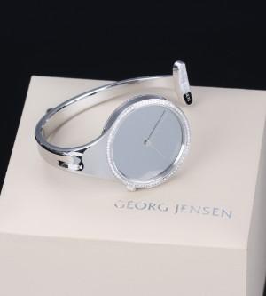 Georg Jensen Vivianna Bangle Watch Steel With Mirror Dial And Diamonds Lauritz