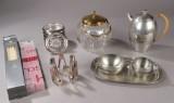 En samling tin, glas m.m. - bl.a. Just Andersen og Dansk Designs France IHQ (15)