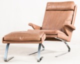 Reinhold Adolf, lounge chair/armchair with ottoman/footstool by COR (2)
