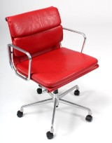Charles Eames. Soft Pad office chair, Model EA-217 'Full Leather'
