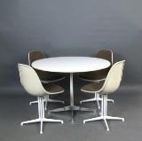 Charles & Ray Eames, Alu Esstisch + Stühle Modell La Fonda für Vitra (5)