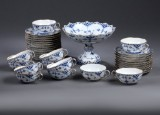 Royal Copenhagen. Blue Fluted full lace porcelain service with gold edge (35)