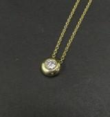 Solitaire brilliant-cut diamond pendant in gold, approx. 0.52 ct.