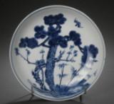 Kinesisk tallerken af porcelæn, 1800-tallet