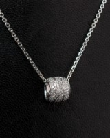 Georg Jensen - a necklace with Fusion pendant, with diamonds