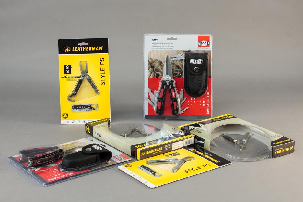 Leatherman og Bessey. Samling værktøj - Samling værktøj fra Leatherman og Bessey. Fremstår ubrugt og i original emballage