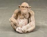 Skulptur i terrakotta i form av Chimpans