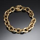 Bræmer Jensen. A solid round anchor chain bracelet, 14 kt. gold