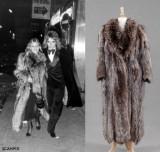 Silver fox coat, provenance: Britt Ekland, 1970's. Size approx. 38