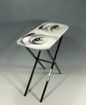 piero fornasetti beistelltisch tablett modell augen. Black Bedroom Furniture Sets. Home Design Ideas