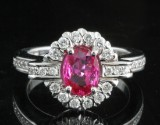 18kt. ruby and diamond ring approx. 0.73ct