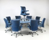 Emilio Ambasz, large conference table, chairs + office chair in leather by Poltrona Frau (10)