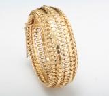 18kt handmade bangle bracelet  64.00gr  <br>
