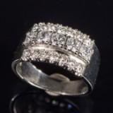 Brilliant cut diamond ring, 1.55ct , 750 white gold