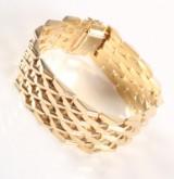 Breites Vintage-Armband aus 14 kt Gelbgold