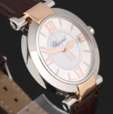 Chopard 'Imperial'. A large ladies watch, 18 kt. rosé gold and steel, with two-tone dial