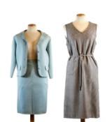 Klänning samt dräkt med jacka och kjol. 1900-talets mitt (3)