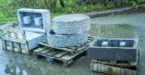 Marmor sokler og kar til vandspil/haveskulpturer (6)
