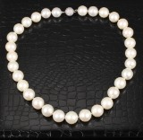 South Sea cultured pearl necklace with diamond clasp