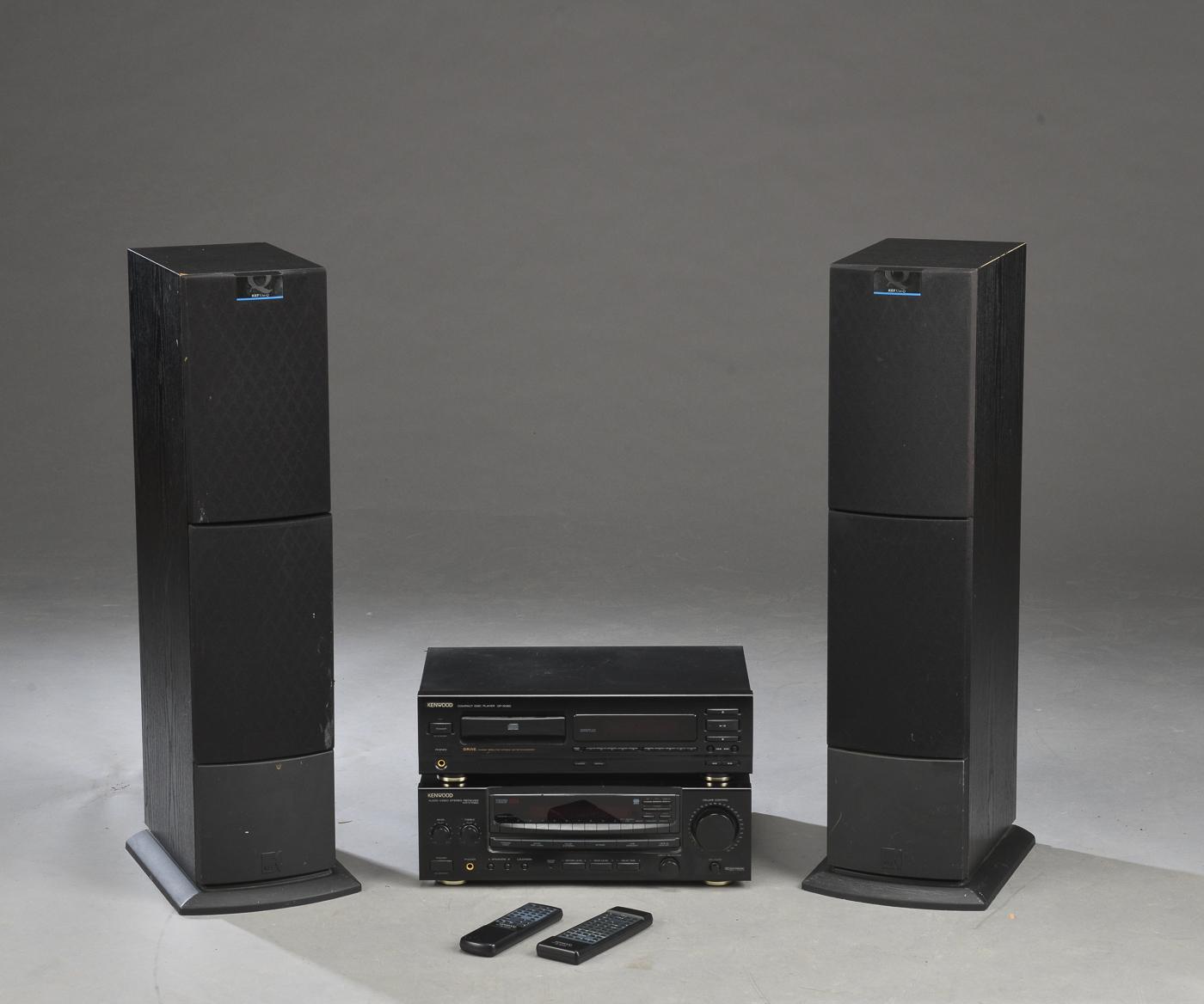 Kenwood musikanlæg - Kenwood. Musikanlæg, bestående af CD-afspiller DP-5060, Tuner KR-V7060 samt to højtalere, model KEF Q50. Brugsspor. Virker jf. rekvirent. Lauritz.com indestår ikke for funktionaliteten