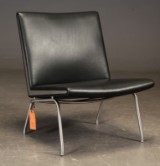 Hans J. Wegner. Airport chair - Kastrup with leather, CH401
