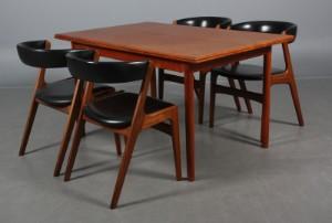 kai kristiansen stole Kai Kristiansen. Fire stole i teak samt bord. (5) | Lauritz.com kai kristiansen stole