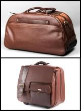 Apples. To rejsetasker i brun læder. (2)