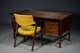 Omann Junior desk and a chair, rosewood (2)