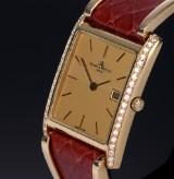 Baume & Mercier. Unisex watch, 18 kt. gold with diamonds, 1990s