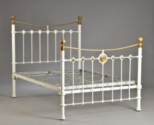 fransk seng Fransk seng af hvidmalet støbejern. 1900 tallet | Lauritz.com fransk seng