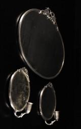 3 st speglar i tenn, 1930-tal (3)