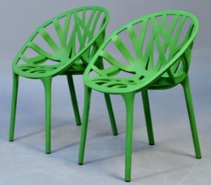 Erwan og Ronan Bouroullec. Par Vegetal inden- og udendørs stole (2 ...