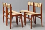 Dansk møbelproducent. Fire stole af teak. (4)