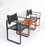 Verner Panton, pair of plywood chairs model 270F + table/stool model 270 HF in plywood (3)