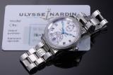 Ulysse Nardin 'Marine Chronometer'. Men's watch, steel, with white dial - certificate 1999