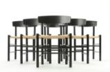 Børge Mogensen. Six Shaker chairs, model J39 (6)