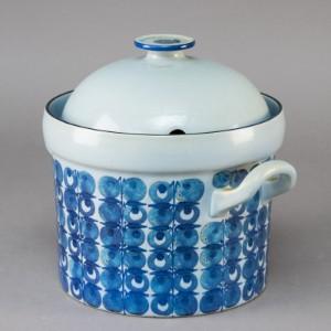 Aluminia. Punchbowle - Dk, Næstved, Gl. Holstedvej - Punchbowle af fajance, dekoreret i underglasurfarver. Aluminia 460/3249. II-sort. - Dk, Næstved, Gl. Holstedvej