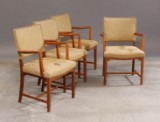 Kaare Klint. Four armchairs, 'the Red chair', oak (4)