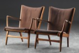 Hans J. Wegner. Pair of easy chairs, model AP16 (2)