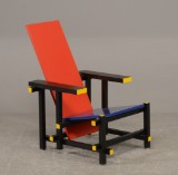 Gerrit Rietveld, 'Red Blue Chair', skulpturel stol