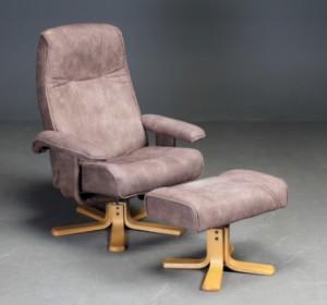 laenestol og skammel brunligt mikrofiber 2 lauritz com