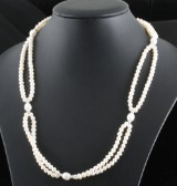 2 strand fresh water pearl necklace.