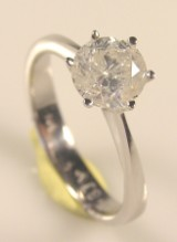 Solitaire ring ca. 1,51 ct.