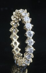 18kt eternity diamond ring approx. 1.14ct
