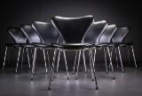 Arne Jacobsen. Eight Series 7 chairs, model 3107 (8)