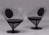 Verner Panton, par ' Wire Cone Chairs' (2)