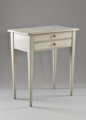 m bel damenarbeitstisch grau bemalt gustavianisch schweden ca 1780 se. Black Bedroom Furniture Sets. Home Design Ideas